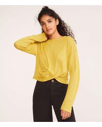 Lou & Grey Softened Jersey Twist Top - Yellow