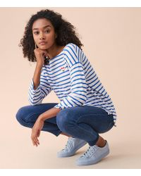 Lou & Grey - Sundry Striped Heart Patch Tee - Lyst