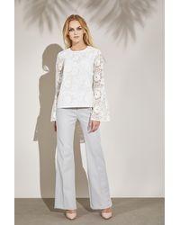 LOULU ET TU Maia Bell- Sleeved Blouse - White