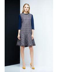LOULU ET TU Greta Godet Dress A - Blue