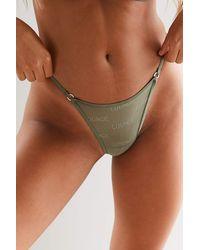 Lounge Underwear Bold Mesh Thong - Multicolour