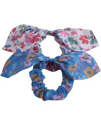LoveShackFancy Countryside Cotton Scrunchies - Blue