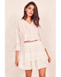 LoveShackFancy Adelia Skirt - Multicolor