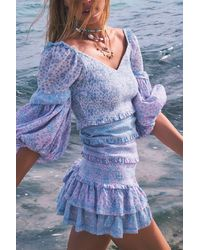 LoveShackFancy Ensley Mini Dress - Multicolor