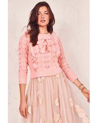 LoveShackFancy Kennie Pullover - Pink