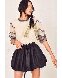 LoveShackFancy Cheyenne Skirt - Black