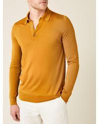Luca Faloni Mustard Fine Silk-cashmere Polo - Multicolor