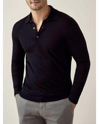 Luca Faloni Black Fine Silk-cashmere Polo - Multicolor