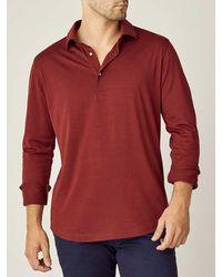 Luca Faloni Lava Red Amalfi Silk-cotton Polo Shirt