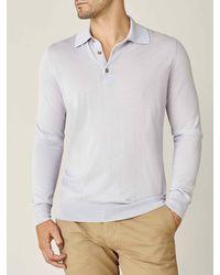 Luca Faloni Ice Gray Fine Silk-cashmere Polo - Multicolor