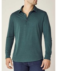 Luca Faloni Emerald Green Amalfi Silk-cotton Polo Shirt