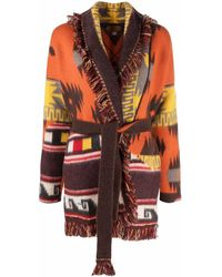 Alanui Tie-fastening Knitted Cardigan - Orange