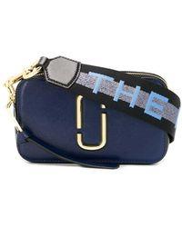 Marc Jacobs Snapshot logo Small Camera Bag - Blu