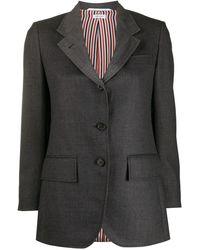 Thom Browne Heavy Wool Single-breasted Jacket - Grey