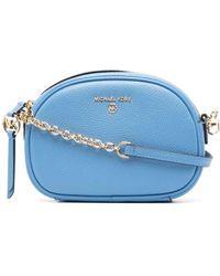 Michael Kors Logo-plaque Leather Shoulder Bag - Blue