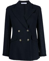 Harris Wharf London Double-breasted Blazer - Blue