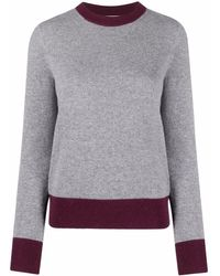 Tory Burch Plain Long-sleeve Sweatshirt - Grey