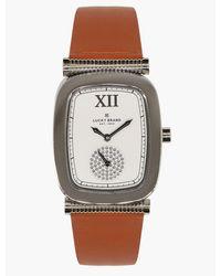 Lucky Brand Laurel Tan Leather Watch - Metallic