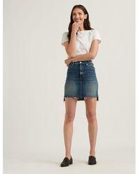 Lucky Brand Mid Rise Mini Skirt - Blue