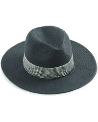 Lucky Brand Fedora With Woven Trim - Black
