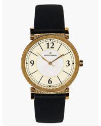 Lucky Brand Carmel Navy Leather Watch - Metallic