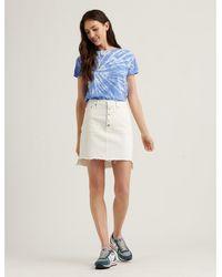 Lucky Brand Mid Rise Mini Skirt - White