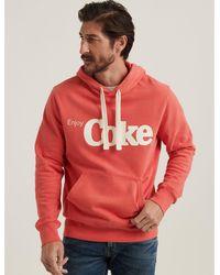 Lucky Brand Enjoy Coke Sueded Fleece Hoodie - Red