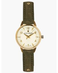 Lucky Brand Torrey Olive With Gold Studs Watch - Metallic