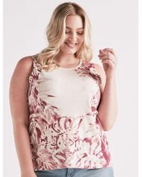 Lucky Brand - Printed Floral Tank - Lyst