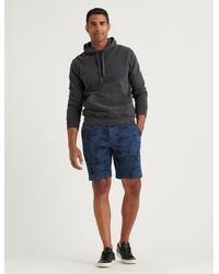 Lucky Brand Saturday Stretch Flat Front Short - Blue