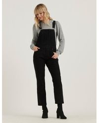 Lucky Brand Straight Leg Corduroy Overall - Black