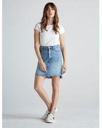 Lucky Brand High Rise Mini Skirt - Blue