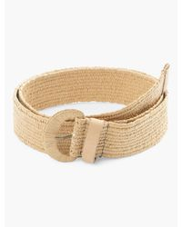 Lucky Brand Woven Covered Buckle Belt - Natural