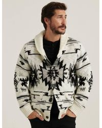 Lucky Brand Southwestern Sherpa Lined Shawl Cardigan - Multicolor