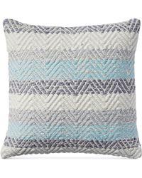 Lucky Brand 18x18 Jersey Chevron Decorative Pillow - Gray