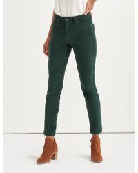 62ea1cc5792 Lyst - Lucky Brand Ava Mid Rise Skinny Jean In Fray Majestic Green