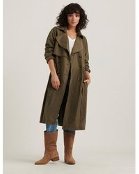 Lucky Brand The Relaxed Trench Coat - Green