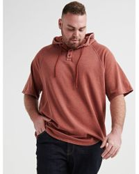 Lucky Brand Venice Burnout Short Sleeve Hood - Multicolor