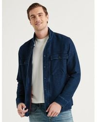 Lucky Brand - Indigo Zip Jacket - Lyst