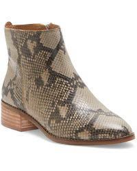 Lucky Brand Lenree Leather Bootie - Gray