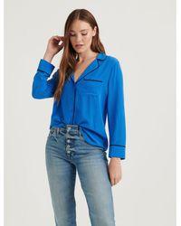 Lucky Brand Womens Plus Size Tassle Sleepshirt Multi Tile Floral Pajama Top