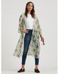 Lucky Brand Floral Printed Duster Kimono - Multicolor