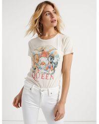 Lucky Brand Queen Animal Tee - White