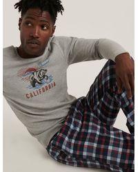 Lucky Brand Ed Bear Thermal Pajama Set - Blue