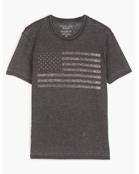 Lucky Brand Usa Flag Tee - Black