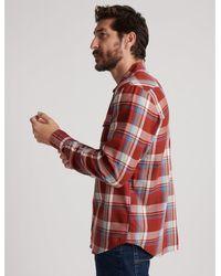 Lucky Brand Alameda Western Shirt - Red