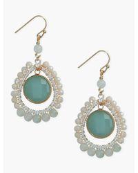 Lucky Brand - Green Drop Earrings - Lyst