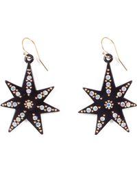 Lulu Frost - Orana Black Star Earrings - Lyst