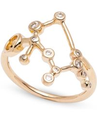 Lulu Frost - Zodiacs 14k & Diamond Gemini + Air Ring - Lyst