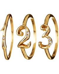 Lulu Frost | Code Number Ring Yellow Gold 18kt | Lyst